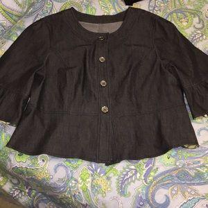 Like New denim 2x plus jacket Macy's